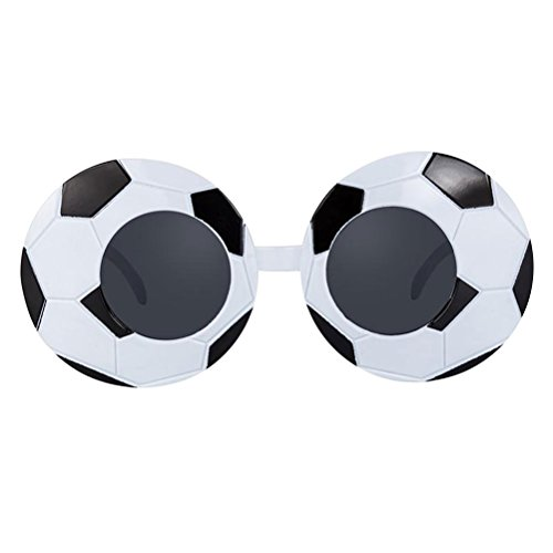 LUOEM Soccer Eyeglasses Soccer Themed Party Glasses Eyewear Sunglasses Fancy Frames Halloween Costume Cosplay Props Party Decoration ()
