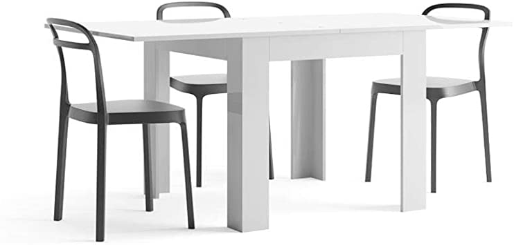 Mobili Fiver, Mesa Extensible, Modelo Eldorado, Color Blanco ...
