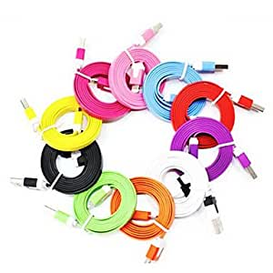 Buy Noodle Colorful USB 2.0 data cable 10 Color 8 pin USB cable for iPhone5 , Orange