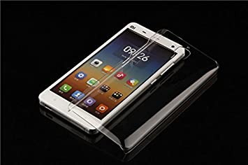 Evess Funda Carcasa Cover Case Xiaomi Mi4 Transparente + protector Pantalla