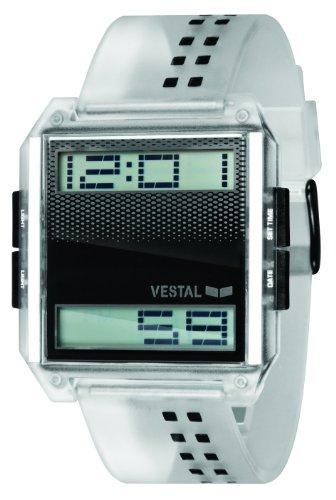 Vestal Unisex DIG006 Digichord Clear Black PU Digital Watch