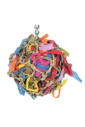 - Sweet Feet and Beak Super Shredder Ball - Will Keep Your Bird Busy for Weeks - Creates Fun-Filled, No-Stress Time Foraging for Hidden Treasures - Non-Toxic - Easy to Install - for Small Sized Birds