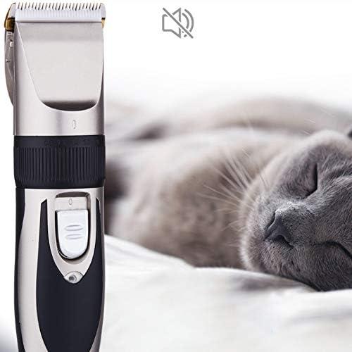 KSIASGDHA Recortador de Pelo para Mascotas Cortador de Pelo de Gato el/éctrico Recargable Cortadores de Aseo M/áquina de Afeitar Potente para Animales