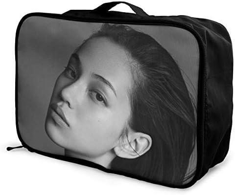 水原希子 写真 旅行用トロリーバッグ 軽量 ポータブル荷物バッグ 衣類収納ケース キャリーケース 固定 出張パッキング 大容量 トラベルバッグ ボストンバッグ キャリーオンバッグ 旅行用サブバッグ