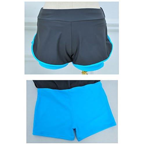 ABCWOO Womens Rash Guard Boy Short Split Two Pieces Swimsuits