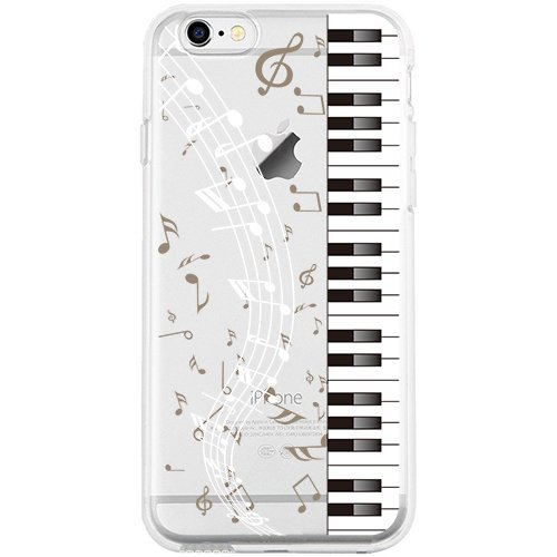 iPhone 6S Case, SwiftBox Cute Cartoon Case for iPhone 6 6S (Piano)