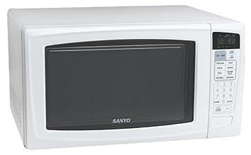 amazon com sanyo em s9515w family size microwave oven countertop rh amazon com