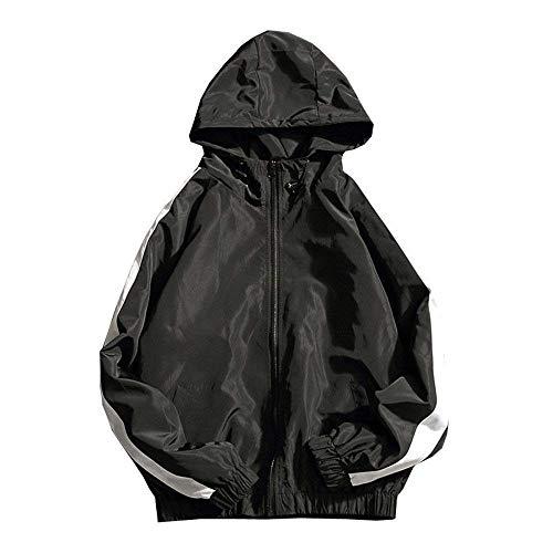 Abbigliamento Abbigliamento Giubbotto Unita Solare Protezione Lunga Hooded Autunno Autunno Autunno Schwarz Uomo New Slim Manica Parka Sports Uomo Tinta Jacket Betrothales Giacca ZCPqpp