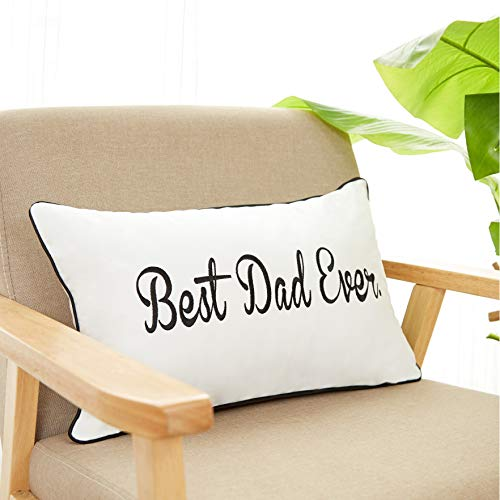 Sanmetex Best Dad Ever Cotton Lumbar Decorative Throw Pillow Case Cushion Cover 12
