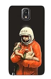 New Arrival Yuri Gagarin And Laika FWGrmBQ130LuJRU Case Cover/ Note 3 Galaxy Case