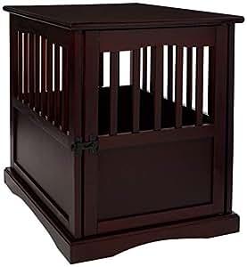Casual Home 600 44 Pet Crate, Espresso, 24 Inch