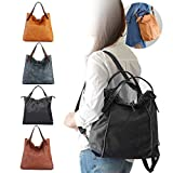 Best Backpack With Removable - Brenice Cowhide Tote Handbags Vintage Multifuntion Backpack Shoulder Review