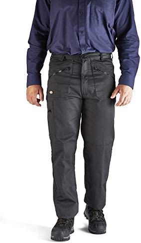 Homme Dickies Noir work wear pantalons pantalon knee pad poches Redhawk WD814