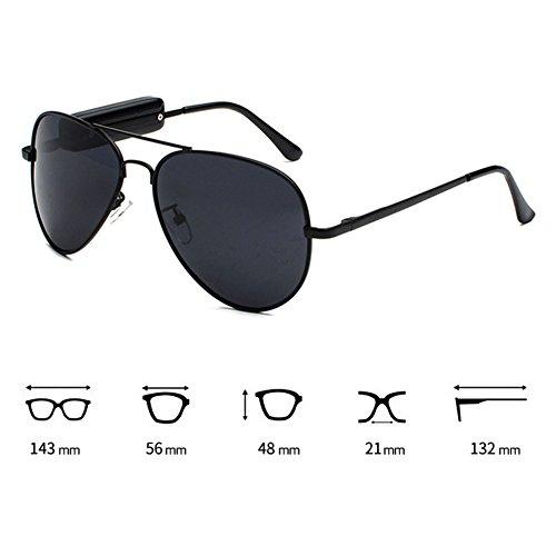 Highdas aire libre inalámbricos al Gafas sol micro Gafas de auriculares Auriculares USB con C1 208 Auriculares polarizadas de música Bluetooth ZwwXpq6A