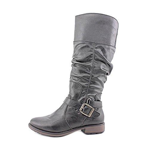 BareTraps Bare Traps Womens Soho Almond Toe Mid-Calf Fashion Boots, Black, Size 5.5
