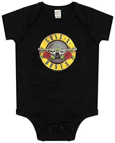 Bravado Guns N Roses Bullet Onsie (12 Months, Black) - Guns N Roses Bodysuit