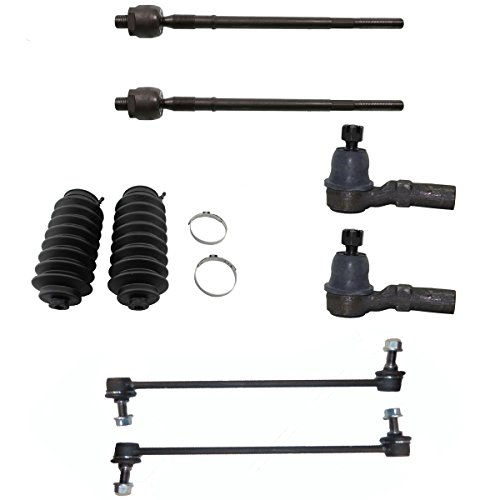 Detroit Axle - 8pc Front Sway Stabilizer Bars and Inner & Outer Tie Rods w/Rack and Pinion Boot Kit for 2001-2006 Mazda MPV Built After (8/00 Prodution Date)
