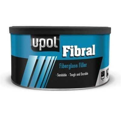 U-Pol Products 0716 FIBRAL Sandable Glass Repair Fiber Paste - 900ml