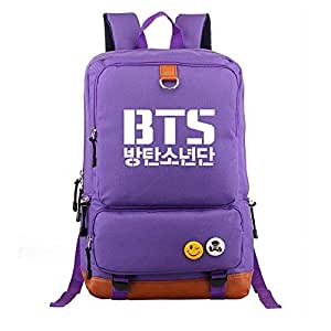 Asdfnfa Backpack, Student Schoolbags Men and Women Casual 20-35L Large Capacity Travel Package Laptop Rucksack (Color : Purple)