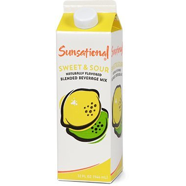 Sunsational Frozen Sweet and Sour Concentrate 32 oz, Pack of 12 by Sunsational