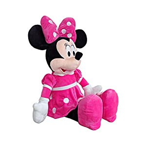 Best Minnie Mouse Plush Toy in Pink Dress Jumbo Size 30` with Travel Bag (Pink Minnie Extra Large)