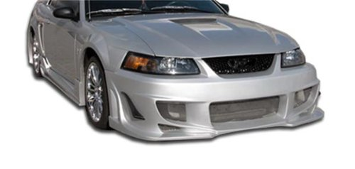 Duraflex ED-IQP-009 Bomber Front Bumper Cover - 1 Piece Body Kit - Compatible For Ford Mustang 1999-2004