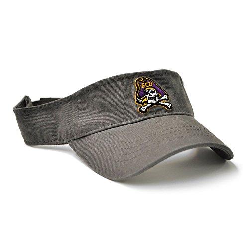 - East Carolina Youth Grey Visor with Jolly Roger Logo ECU