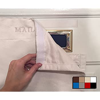 SNAIL SAKK: Mail Catcher For Mail Slots   CREAM. No Tools/screws Necessary!  Space Efficient, Reduces Drafts, And More! For Home, Office, And Garage  Doors.