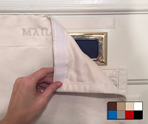 SNAIL SAKK: Mail Catcher For Mail Slots - CREAM. No tools/screws necessary! Space efficient, reduces drafts, and more! For home, office, and garage doors. | Basket, Letter Cage, Door, Bag (Standard Mail Slot)