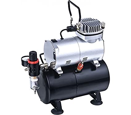 mws881 – Mini compresor – Depósito 3 litros TC-20T aerógrafo y pintura 1/