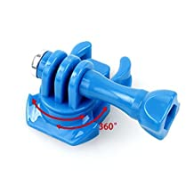 360 Turntable Quick Release Buckle Connector Tripod Adapter for Gopro Hero 2 3 3+/Plus 4 Camera (Blue)