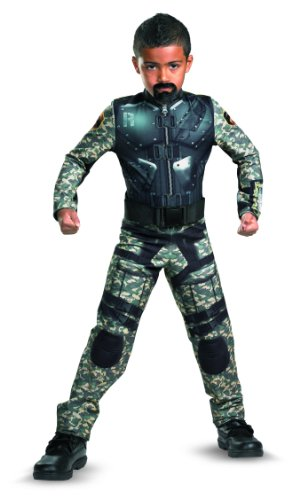 G.i. Joe Retaliation Roadblock Classic Costume, Black/Camo, Large -