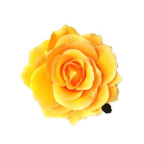 Smiling sunflower Rose Hairpin Flamenco Dancer pin Flower Brooch, Brooch Hairpin use Rose -Yellow