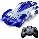 Force1 Remote Control Car Gravity Defying RC Car - RC Cars for Kids and Adults, Race Car Boys Toys for Floor or Wall w/ USB for Rechargeable Fast RC Car (Blue)