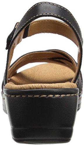 Clarks Hayla Pier vestido de la sandalia Negro