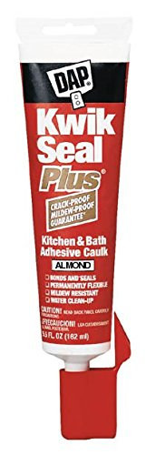 Dap 18539 5.5 oz Bisque Kwik Seal Plus K & B Adhesive Sealant w/Micro by DAP