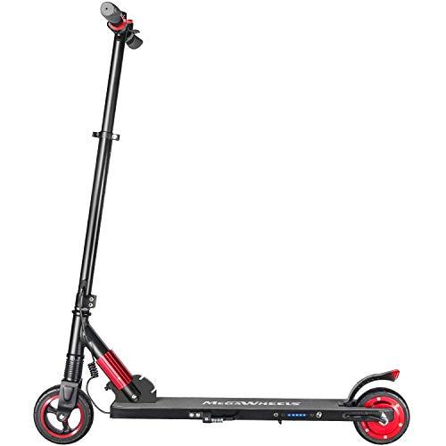 MegaWheels Electric Kick Scooter, Lightweight & Foldable Spe