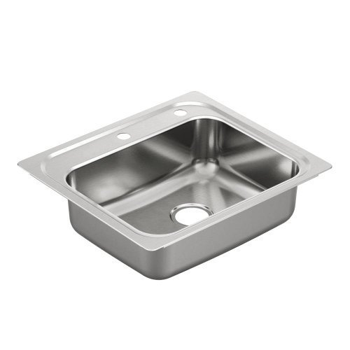 Moen Moen G201962 2000 Series steel 20 gauge single bowl drop in sink, Stainless by Moen