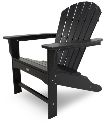 Trex Outdoor Furniture Cape Cod Adirondack Chair, Charcoal Black (Hawken Smith Cushions And)