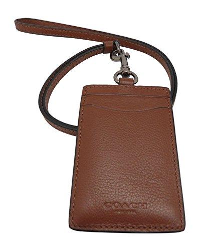 COACH Leather Lanyard Holder Saddle
