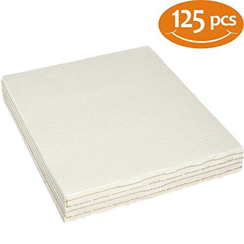 (TAOindustry Tear Away Stabilizer Set - Pack 125 Precut Sheets Medium Weight 1.8oz, 12