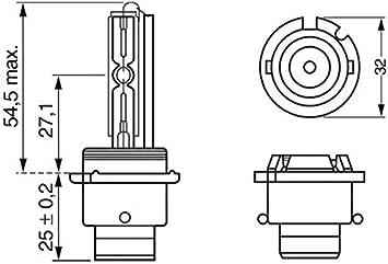 Bosch 1987302904 Xenon Leuchtmittel D2s 35w P32d 2 Auto