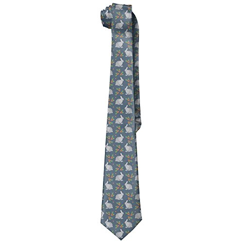 - Egg Egg Men's Legging Rabbit Looks At The Carrot Novelty Necktie Tie Neck Tie