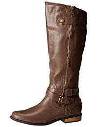 Rampage Women's Hansel Zipper and Buckle Knee-High Riding Boot