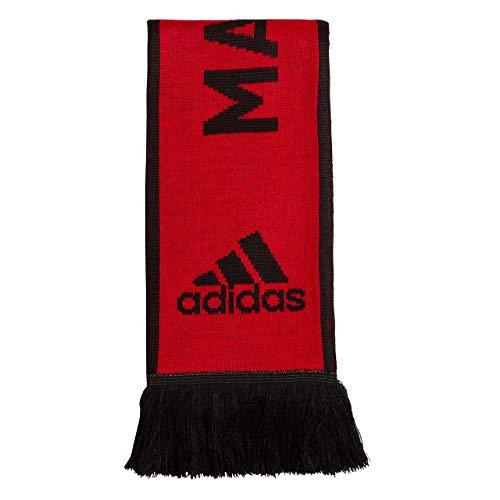Adidas Manchester United Scarf Men Soccer Football Fashion Modern Red (OSFM)