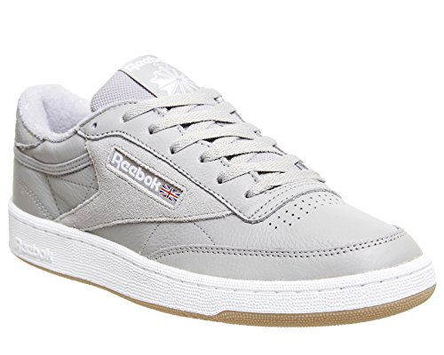 Reebok Herren Club C 85 Estl Tennisschuhe Grau (Powder Grey/White/Washed Blue/Gum 000)