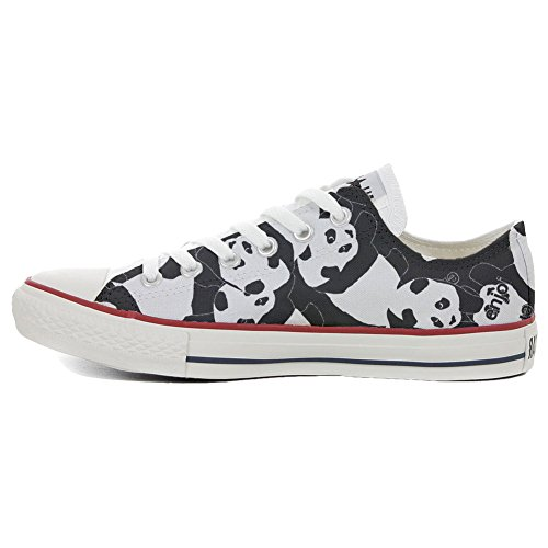 Converse All Star Customized - zapatos personalizados (Producto Artesano) Panda Style