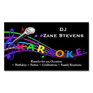 Modele De Carte Visite Karaoke Du DJ