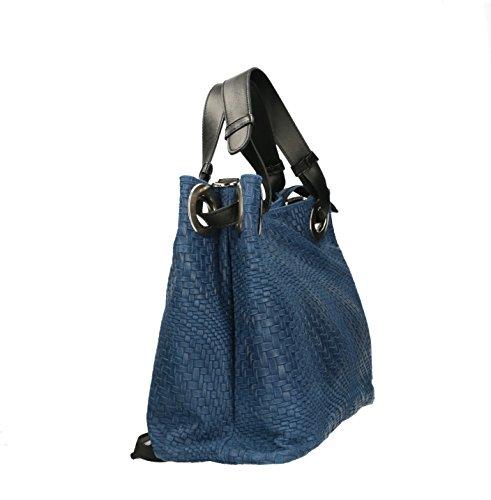 Ju&Zo, Borsa a mano donna blu blu Taille Unique