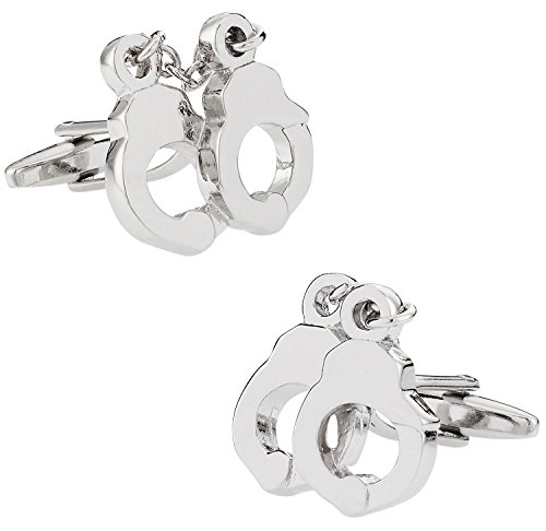 Cuff-Daddy Police Silver Handcuff Cufflinks with Presentation Box